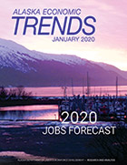 Cover of most current Alaska Economic Trends magazine